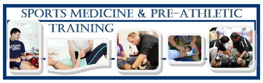 photo banner for sports med and pre ath training